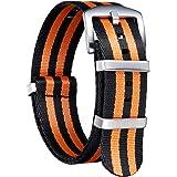 NATO Cinturini di ricambio di ricambio in nylon multicolore balistico G10 Premium con fibbia in acciaio inossidabile per uomo