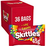 Skittles Sweets, Fruit Chewy Sweets Bulk Box, 36 Packs of 45 g