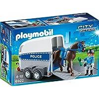 Playmobil - 6922 - Jeu - Policière + Cheval et Remorque
