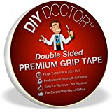 DIY Doctor Xtra Strong Double-Sided Carpet Rug Gripper Tape - 20m Roll, 21mm Wide