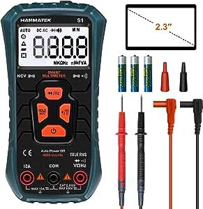 Hanmer Digital Multimeter Auto Range True Rms Ac Dc Volt Advanced Current Detector Multimeter 4000 Counts Resistance Kontinuität Außenleiter Identifizierung Mit Hintergrundbeleuchtung Baumarkt