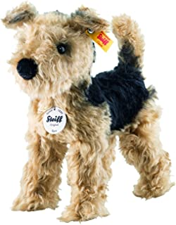 40cm Soft Toy Stuffed Animal 1979 Carl Dick Airedale Terrier Lying 16 inches Plush Toy