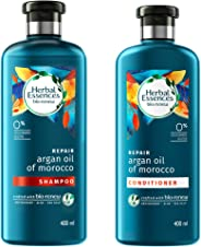 Herbal Essences Bio Renew Argan Oil Of Morocco Shampoo, 400 ml with Herbal Essences Bio Renew Argan Oil Of Morocco Condition
