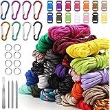 Paracord Set 26 kleuren multifunctioneel bevat touwgesp en naainaalden voor het maken van armband, sleutelhanger, hondenhalsb