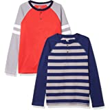 Marca Amazon - Spotted Zebra 2-Pack Long-Sleeve Henley Shirts Niños