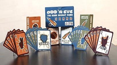 Odd 'R Eve Oddreve The Original Children'S Cricket Card Game - Blue