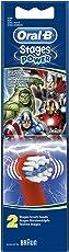 Oral-B Stages Power Kids Aufsteckbürsten, im Marvel Avengers Design, 2 Stück
