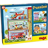 HABA Puzzles Little Fire Station, Multicolor