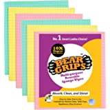 BEAR GRIPS resuable and washable Sponge Wipes with super absorbant biodegradable cellulose material for kitchen and home clea