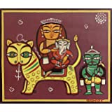 Tallenge -Indian Art Painting Collection - Durga Poster Collection - Jamini Roy - Durga - Small Poster Paper (12 x 17…