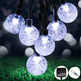 OMERIL Solar Garden Lights,26Ft 50 LEDs Solar Lights Outdoor Garden Waterproof, Dual Solar Powered/USB Powered String…
