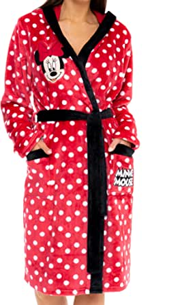 Disney Womens Minnie Mouse Dressing Gown