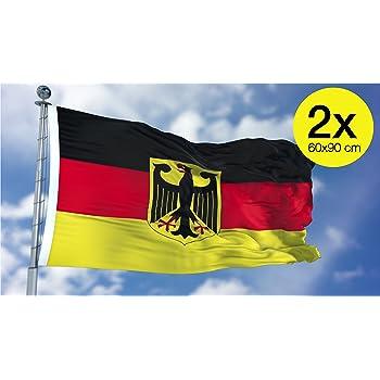 flagge deutschland mit adler 90 x 150 cm. Black Bedroom Furniture Sets. Home Design Ideas
