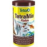 TetraMin Flakes Alimento para peces en forma de escamas, para peces sanos y aguas claras, 1 L
