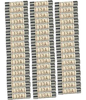 5 10 20 50 100 x 13A AMP DOMESTIC HOUSEHOLD MAINS PLUG FUSE CARTRIDGE FUSE