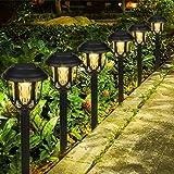 6 pezzi Lampada Solare da Giardino,LED Luci Solari Giardino Lampade da Esterno per Prato Lampade Terra IP65 Impermeabile Fare