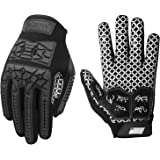 Seibertron Lineman 2.0 Padded Palm Football Receiver Gloves, Flexible TPR Impact Protection Back of Hand Glove Adult and Yout