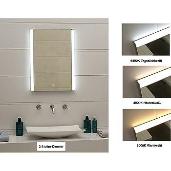 Design Led Beleuchtung Lichtspiegel Badezimmerspiegel 3 Stufen