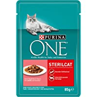 Purina ONE Katzennassfutter, hochwertige Katzennahrung, reich an Vitaminen und Mineralstoffen, 24er Pack (24 x 85 g Beutel)