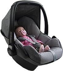 BAMBINIWELT Ersatzbezug für Maxi-Cosi PEBBLE 5-tlg, Bezug für Babyschale, Komplett-Set *NEU* GRAU/HELLGRAU