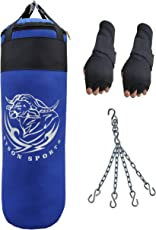 Byson Strong and Rough(36 inch) Punching Bag with Hand wrap Gloves with Chain (Heavy Bag)
