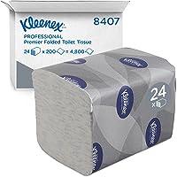 Kleenex 8407 Premier Papier Toilette Plié 2 Plis, Blanc, Paquet de 24