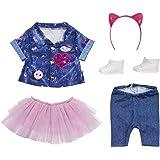 BABY born 515 829110 829110 Deluxe Jeans Outfit voor Pop van 43cm - Vanaf 3 Jaar - Met Hemd, Leggings, Haarband & Nog Veel Me