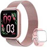 AIMIUVEI Smartwatch Donna, Orologio Fitness Donna Full Touch 1,4 Pollici Cardiofrequenzimetro da Polso Pressione Sanguigna Co