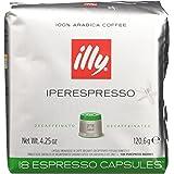 illy Caffè Iperespresso, Caffè Espresso In Capsule, Decaffeinato - 6 confezioni da 18 capsule (totale 108 Capsule)