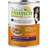 Trainer Natural Sensitive No Glutine - Cibo Umido per Cani Medium-Maxi Adulti con Trota e Cereali Integrali Pack 12 x 400gr -
