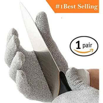 InstantBuy HPPE Coated Cut Resistant Hand Safety Gloves with 5 Level Protection, Free Size (Grey)