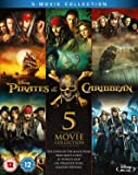 Pirates of the Caribbean 1-5 (Blu-ray) [2017] [Region Free]
