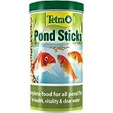 Tetra Pond Sticks, Complete Fish Food for All Pond Fish, 1 Litre
