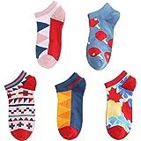 Ueither Hombre Mujer Calcetines Cortos Divertidos de Algodón Calcetines Invisibles Verano Tobillo Calcetines de Colores