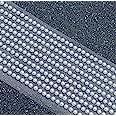 Lot de 500mini-perles rondes à dos plat autocollantes 3mm Blanc (PEM32)