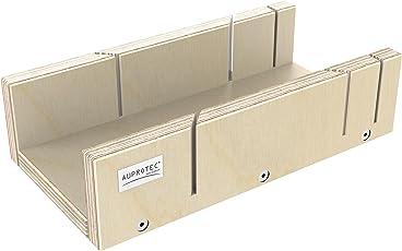 AUPROTEC Schneidlade 250 X 135 X 68 Mm Multiplex Birkenholz Präzise  Gehrungslade Für Beidseitig 45°