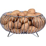 Planet Heavy Stainless Steel Vegetable and Fruit Bowl Basket - Nickel Chrome Plated