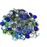 Mosaic Tile Supplies 1kg (app 230) Colourful Mixed Glass Pebbles/Stones/Gems/Nuggets/Beads 20mm Various Mixes (Nautical)