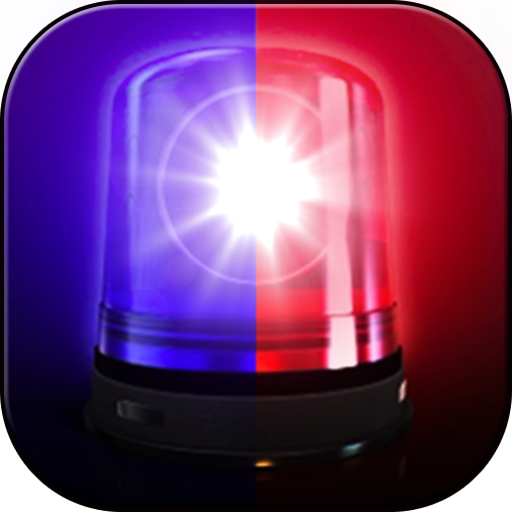 Police lights and sirens joke (Scanner Police Car)