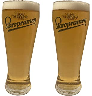 Pair of Staropromen pint beer tankards