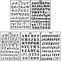 Asian Hobby Crafts Stencils for Sketching and Scrapbooking for Kids,- Set of 5 (Alphabet Assorted)
