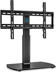 FITUEYES Universal TV Stand Swivel Tabletop Base Mount for 32'' to 65 inch LED LCD Plasma Flat Curved Screen TT107002GB