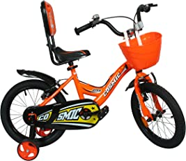 Cosmic Ziva Bicycle for Boys and Girls (16 Inch, Black and Orange)