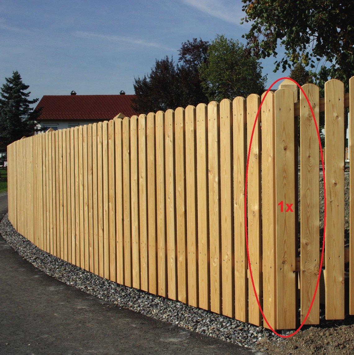 1 Stück Zaunlatte aus Lärchenholz Höhe 100 cm Typ A 20x95 mm