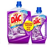 DAC Gold Disinfectant Multi-Purpose Cleaner - Lavender (3 Litres + 1 Litre), for 99.9% Germs and Bacteria Removal, with Long-