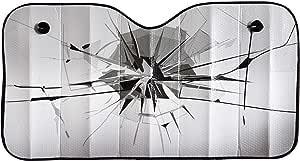 Ok Cars Az Saa 047 Auto Sonnenschutz Frontscheibe Sonnenblende Für Die Windschutzscheibe Frontscheibenabdeckung Mit Motiv Glas Maße 130x70cm Auto