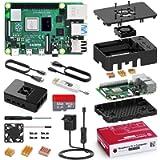 Bqeel Kit Raspberry Pi 4 Model B da 4GB RAM+MicroSD 32GB, RPi Barebone con Accessori 2 Cavo HDMI, Alimentatore 5.1V 3A…