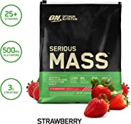 Optimum Nutrition Serious Mass, Strawberry 12 Lbs 2/Cs