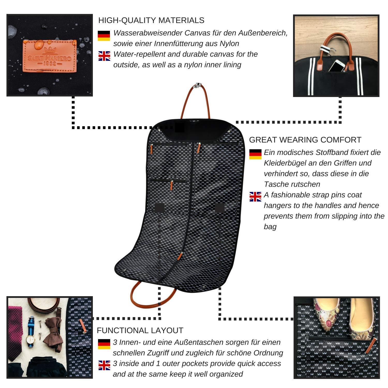 Transparent Kleiderhülle lang Kleidersack Anzugsack Anzughülle Anzugtasche