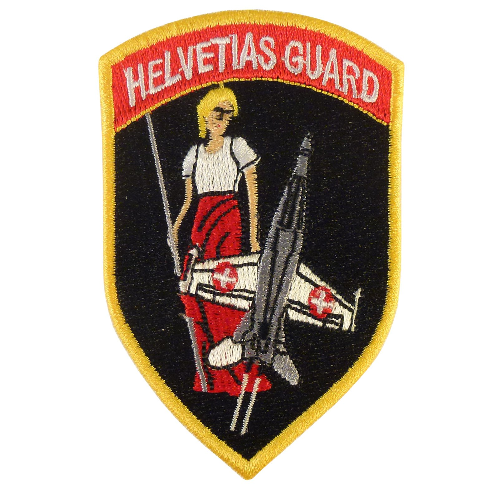 Swiss Air Forces Helvetias Guard F-18 Hornet Sew Termoadesiva Toppa Patch
